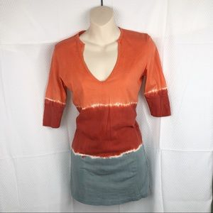 NEW-Gypsy 05 Anthropologie TieDye BoHo V-Neck Top